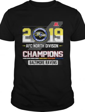 Baltimore Ravens 2019 AFC North Divison Champions shirt