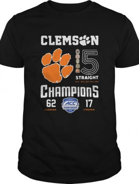 Clemson Tigers football 5 Straight 2019 Champions shirt