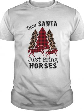 Dear Santa Just bring horses Plaid Christmas Tree shirt