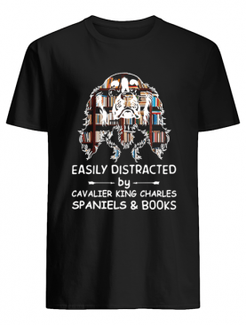Distracted By Spaniels And Books Crewneck shirt