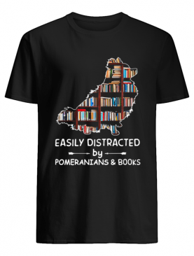 Easily Distracted By Pomeranians And Books Crewneck shirt