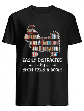 Easily Distracted By Shih Tzus And Books Crewneck shirt