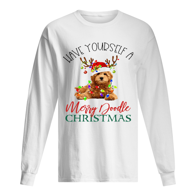 Have Yourself A Merry Doodle Christmas  Long Sleeved T-shirt