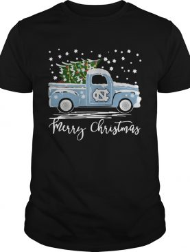North Carolina Tar Heels Pickup Truck Merry Christmas shirt