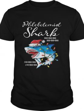 Phlebotomist Shark In Santa Hat Christmas shirt