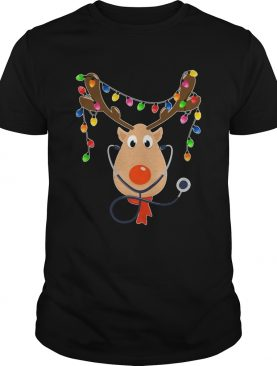 Reindeer Nurse With Stethoscope Christmas shirt