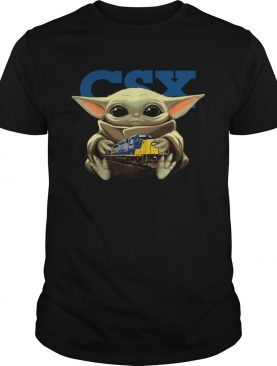Baby Yoda Hug CSX Corporation shirt