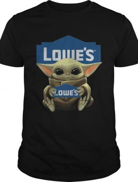 Baby Yoda Hugging Lowes shirt