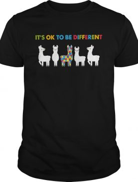 Llama Autism Its Ok To Be Different shirt