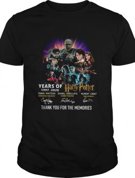 Year of 19972020 Harry Potter thank you for the memories signatures shirt