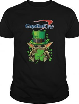 Baby Yoda Capital One Shamrock StPatricks Day shirt
