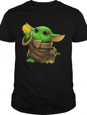Baby Yoda Hug Softball shirt