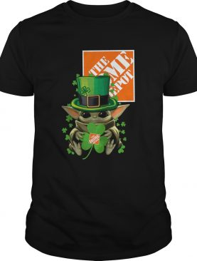 Baby Yoda The Home Depot Shamrock St Patricks Day shirt
