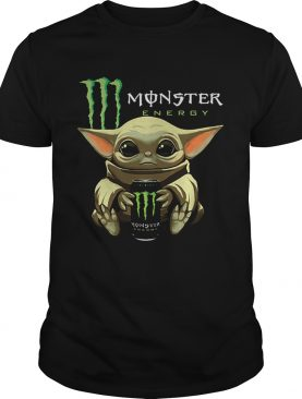 Baby Yoda hug Monster Energy Star Wars Mandalorian shirt