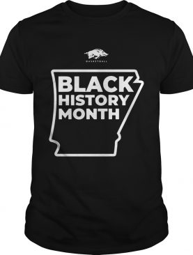 Black Month History Razorback Basketball shirt