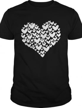 Filled With Hearts Valentines Day Sketch Heart shirt