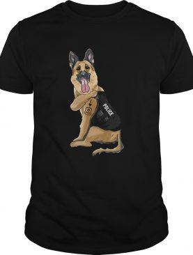 German Shepherd I Love Police shirt