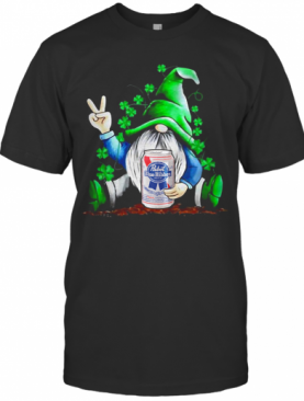 Gnome Hug Pabst Blue Ribbon Irish St. Patrick'S Day T-Shirt