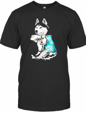 Husky Tattoos I Love Mom T-Shirt