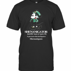 Mickey St Patrick'S Day Shenanigator Define T-Shirt Classic Men's T-shirt