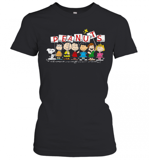 Peanuts Snoopy Marcie Charlie Brown Linus Lucy Peppermint Patty Sally T-Shirt Classic Women's T-shirt