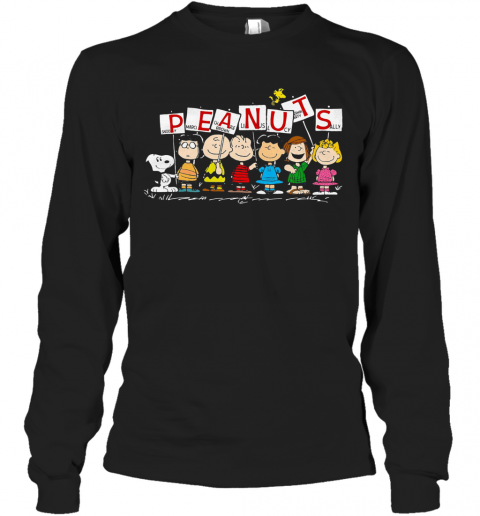 Peanuts Snoopy Marcie Charlie Brown Linus Lucy Peppermint Patty Sally T-Shirt Long Sleeved T-shirt