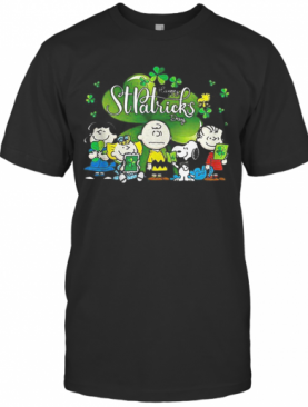Snoopy Charlie Brown Woodstock Happy St Patricks Day Shanrock T-Shirt