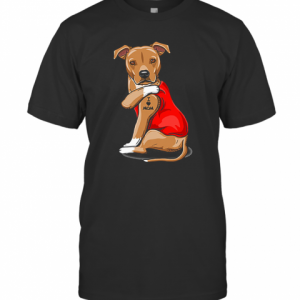Strong Dog Staffordshire Bull Terrier Tattoos I Love Mom T-Shirt Classic Men's T-shirt
