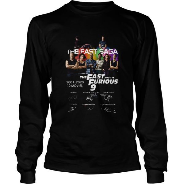 The Fast Saga The Fast And The Furious 9 Signatures  LongSleeve