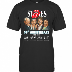 The Rolling Stone 58Th Anniversary 1962 2020 Signatures T-Shirt Classic Men's T-shirt