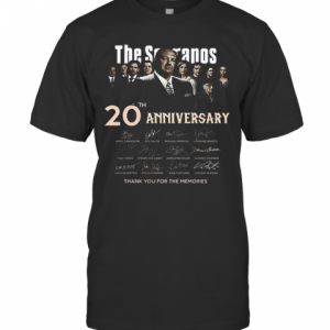 The Sopranos 20Th Anniversary Signed Thank You For The Memories T-Shirt Classic Men's T-shirt