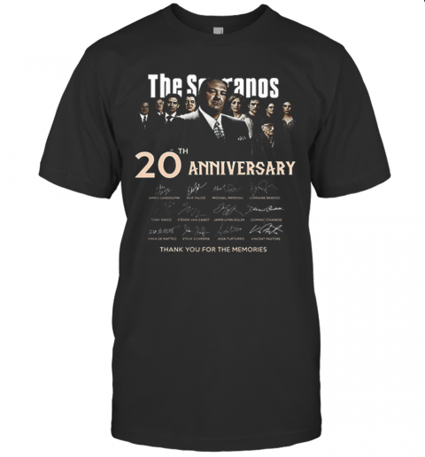 The Sopranos 20Th Anniversary Signed Thank You For The Memories T Shirt Classic Mens T shirt