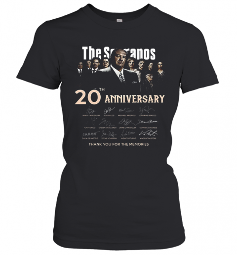 The Sopranos 20Th Anniversary Signed Thank You For The Memories T-Shirt Classic Women's T-shirt