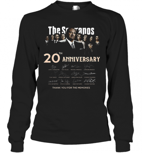 The Sopranos 20Th Anniversary Signed Thank You For The Memories T-Shirt Long Sleeved T-shirt