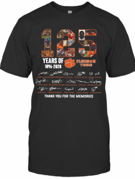 125 Years Of Clemson Tigers 1896 2020 Thank You For The Memories T-Shirt