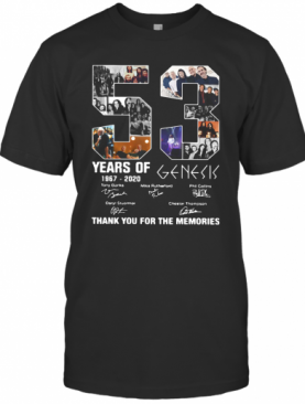 53 Years Of 1967 2020 Genesis Thank You For The Memories T-Shirt