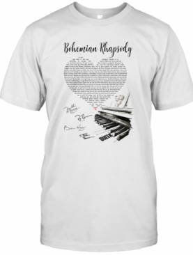 Bohemian Rhapsody Heart Piano T-Shirt