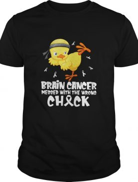 Brain cancer messed with the wrong check shirt