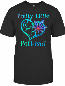 Cannabis Pretty Little Pothead Heart T-Shirt
