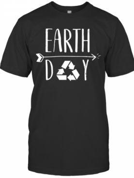 Earth Day 50Th Anniversary Cute Vintage Recycling T-Shirt