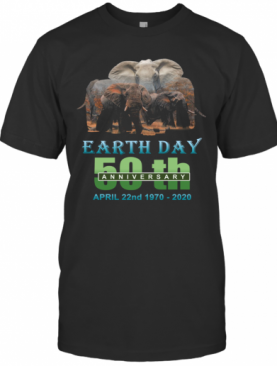 Earth Day 50Th Anniversary Elephant Silhouette Elephant T-Shirt