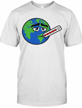 Earth With Fever Global Warming Men'S 50_50 T-Shirt