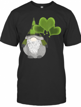 Irish Gnome St Patricks Day Heart Balloons T-Shirt