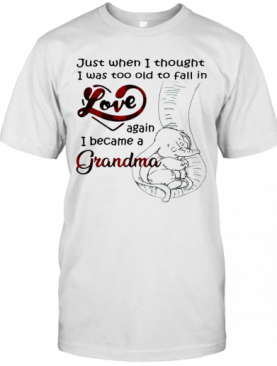 Just When I Thought I Was Too Old To Fall In Love Again I Became A Grandma T-Shirt