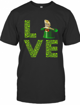 Love Bearded Dragon St Patrick'S Day Shamrock Irish T-Shirt