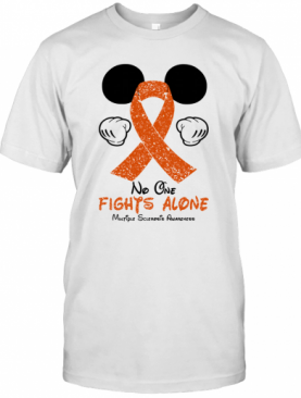Mickey Mouse No One Fights Alone Multiple Sclerosis Awareness T-Shirt
