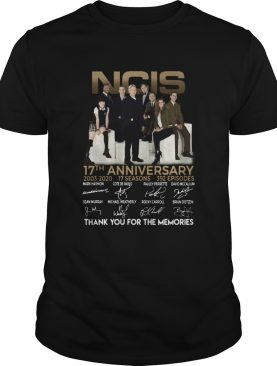 Ncis 17th anniversary 20032020 17 seasons 392 episodes signatures thank you for the memories shirt