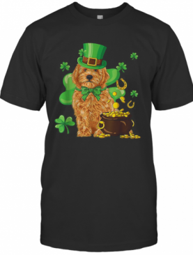 Nice Goldendoodle St Patrick'S Day Irish Dog Lover T-Shirt