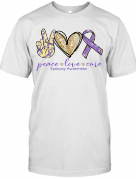 Peace Love Cure Epilepsy Awareness T-Shirt