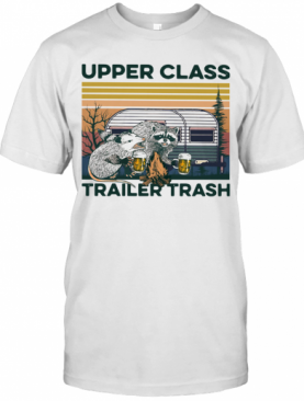 Raccoon And Possum Upper Class Trailer Trash Vintage T-Shirt
